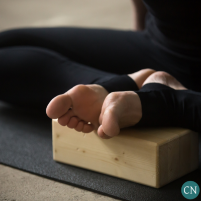 butterfly posture on blocks